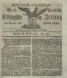 Elbingsche Zeitung, No. 36 Montag, 6 Mai 1811
