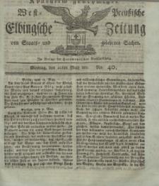 Elbingsche Zeitung, No. 40 Montag, 20 Mai 1811
