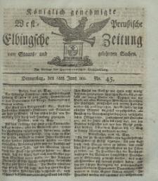 Elbingsche Zeitung, No. 45 Donnerstag, 6 Juni 1811