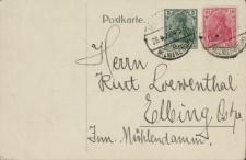 Postkarte: Herrn Kurt Loewenthal…- kartka pocztowa z życzeniami
