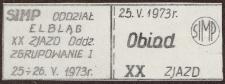 XX Zjazd SIMP w Elblągu – kupon obiadowy