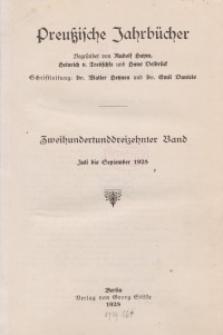 Preußische Jahrbücher, 1928, Bd 213/214.