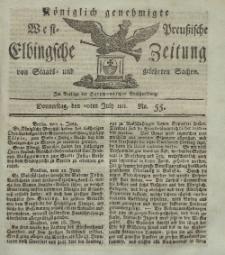 Elbingsche Zeitung, No. 55 Donnerstag, 11 Juli 1811
