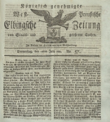 Elbingsche Zeitung, No. 57 Donnerstag, 18 Juli 1811
