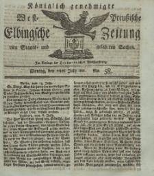 Elbingsche Zeitung, No. 58 Montag, 22 Juli 1811