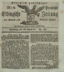 Elbingsche Zeitung, No. 61 Donnnerstag, 1 August 1811