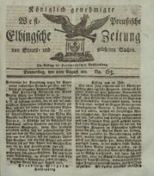 Elbingsche Zeitung, No. 63 Donnnerstag, 8 August 1811