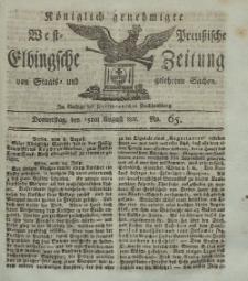 Elbingsche Zeitung, No. 65 Donnnerstag, 15 August 1811