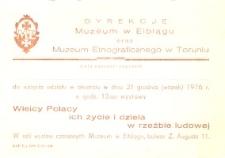 Wielcy Polacy ich życie i dzieła w rzeźbie ludowej – zaproszenie