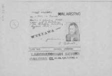 Andrzej Urbański - Wystawa Malarstwa w Laboratorium Sztuki Galeria El w Elblągu - ulotka