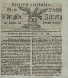 Elbingsche Zeitung, No. 67 Donnnerstag, 22 August 1811