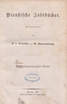 Preußische Jahrbücher, 1869, Bd 24.