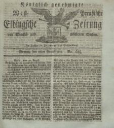 Elbingsche Zeitung, No. 68 Montag, 26 August 1811