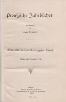 Preußische Jahrbücher, 1916, Bd 166.