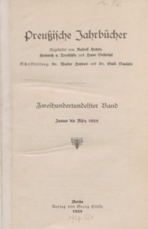 Preußische Jahrbücher, 1928, Bd 211/212.
