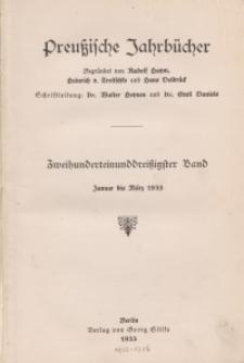 Preußische Jahrbücher, 1933, Bd 231/232.
