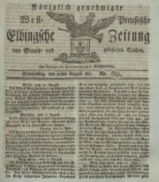 Elbingsche Zeitung, No. 69 Donnnerstag, 29 August 1811