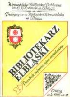 Bibliotekarz Elbląski, nr 2/ 1989