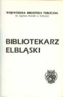 Bibliotekarz Elbląski, nr 1/ 1995