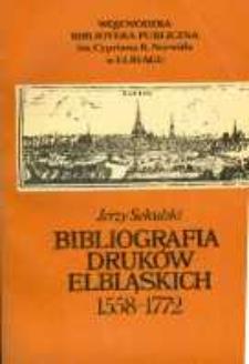 Bibliografia druków elbląskich: 1558-1772
