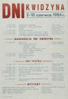Dni Kwidzyna: 2-10 czerwca 1984 r. – afisz