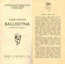 Balladyna - program teatralny