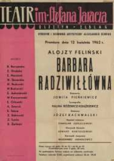 Barbara Radziwiłłówna – afisz