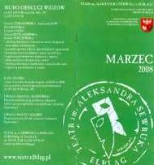 Repertuar Teatru im. A. Sewruka w Elblągu: marzec 2008 r. - folder