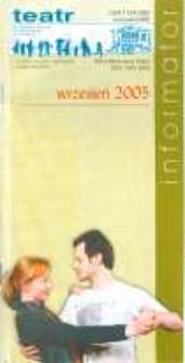 Repertuar Teatru Dramatycznego w Elblągu: wrzesień 2005 r. - informator