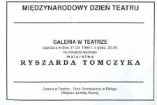 Ryszard Tomczyk: malarstwo – zaproszenie na wystawę