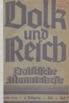 Volk und Reich. Politische Monatshefte für das junge Deutschland, 1932, Bd. 2