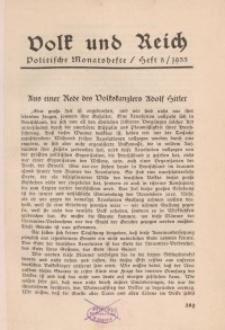 Volk und Reich. Politische Monatshefte für das junge Deutschland, 1933, Bd. 2.