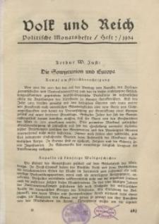 Volk und Reich. Politische Monatshefte für das junge Deutschland, 1934, Bd. 2.