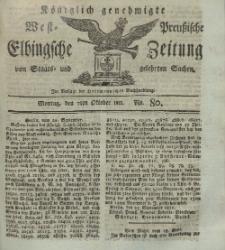 Elbingsche Zeitung, No. 80 Montag, 7 Oktober 1811