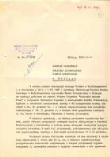 Teatr Dramatyczny w Elblągu – pismo do KW PZPR w Elblągu