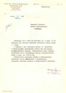 Wydział Kultury i Sztuki Urzędu Wojewódzkiego w Elblągu – pismo do Dyrektora Teatru Dramatycznego w Elblągu