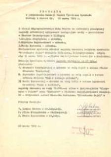 Posiedzenie Komisji Nagród Wydziału Kultury i Sztuki – protokół