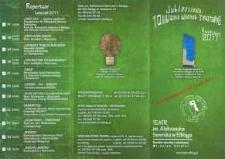 X Elbląska Wiosna Teatralna – folder z programem