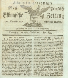 Elbingsche Zeitung, No. 85 Donnerstag, 24 Oktober 1811