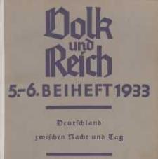 Volk und Reich. Politische Monatshefte für das junge Deutschland, 1932, 5-6. Beihefte