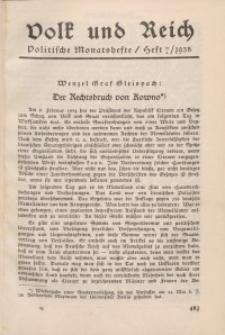 Volk und Reich. Politische Monatshefte für das junge Deutschland, 1935, Bd. 2.
