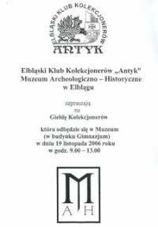 Giełda Kolekcjonerów – 19.11.2006 r.
