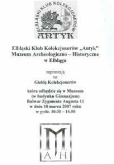 Giełda Kolekcjonerów – 18.03.2007 r.