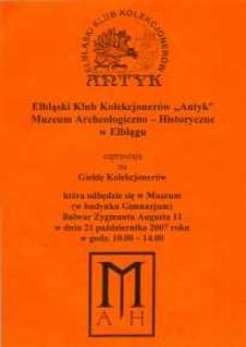 Giełda Kolekcjonerów – 21.10.2007 r.