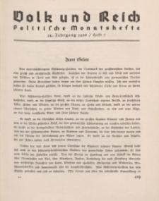 Volk und Reich. Politische Monatshefte für das junge Deutschland, 1938, Bd. 2.