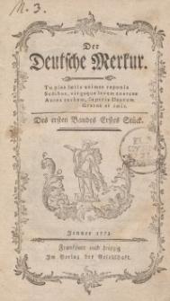 Der Deutsche Merkur, 1773, Nr. 1-2.