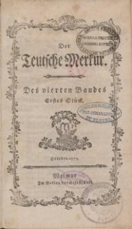 Der Deutsche Merkur, 1773, Nr. 10-12.