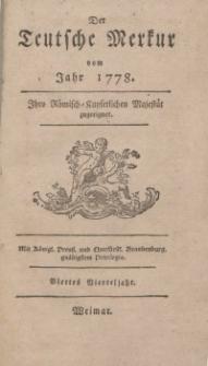 Der Deutsche Merkur, 1778, Nr. 10-12.