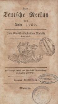 Der Deutsche Merkur, 1780, Nr. 4-6.