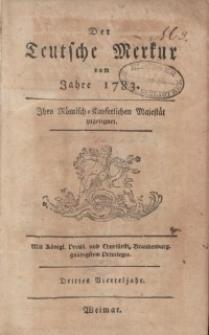 Der Deutsche Merkur, 1783, Nr. 7-10.